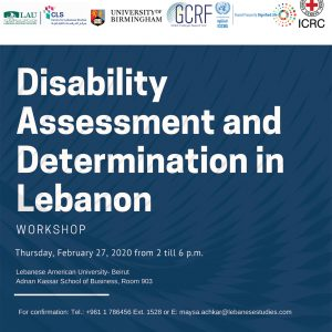 Disability Assessment and Determination in Lebanon